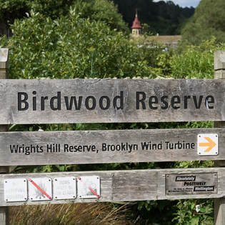 Photo of the sign indicating Birdwood Reserve